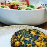 Hamburguesa sin gluten de espinacas y garbanzos – aroa fernandez cocina vegetariana y saludable