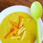 Crema de zanahoria y cilantro